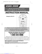 Black & Decker BDL170 Instruction Manual