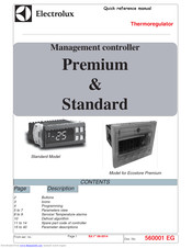 Electrolux Standard Quick Reference Manual