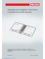 Miele ProLine CSDA 1010 Operating And Installation Instructions