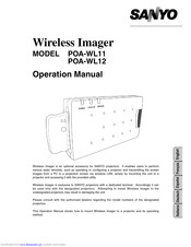 Sanyo POA-WL12 Operation Manual