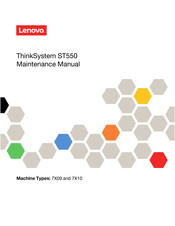 Lenovo ThinkSystem ST550 7X09 Maintenance Manual