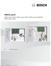 Bosch AMAX panel 3000 BE Installation Manual