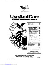 whirlpool LLR9245BQ1 Use And Care Manual