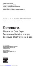 Kenmore 110.6163*610 Use & Care Manual