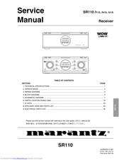 Marantz Sr110 N1s Manuals Manualslib
