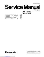 Panasonic Pt Ax200e Manuals Manualslib