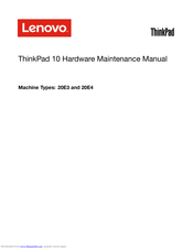 Lenovo 20E3 Hardware Maintenance Manual