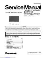 Panasonic CN-NVD905U - Strada - Navigation System Manuals | ManualsLibManualsLib