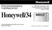 Honeywell CT3400 Programming And Installation Instructions