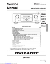Marantz Zr6001 Manuals Manualslib