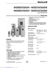 Honeywell NXS0031V35A2H1 Product Data