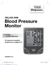 Walgreens WGNBPA-745 User Manual
