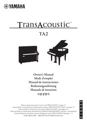 Yamaha TransAcoustic TA2 Owner's Manual