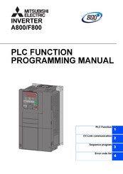 Mitsubishi Electric F800 Programming Manual