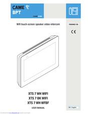 CAME XTS 7 WH WIFI USER MANUAL Pdf Download   ManualsLib