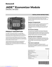 Honeywell JADE W7220 Installation Instructions And Operators Manual