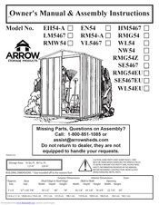 Arrow RM54-A Owner's Manual & Assembly Instructions