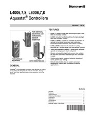 Honeywell Aquastat L4007 Product Data