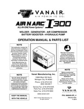 Vanair AIR N ARC I 300 SERIES Operation Manual