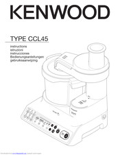 Kenwood CCL45 Instructions Manual