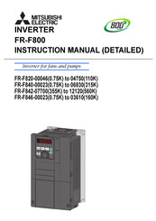 Mitsubishi Electric FR-F820-04750 Instruction Manual
