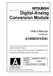 Mitsubishi Electric A1S68DAV User Manual
