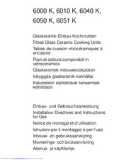Electrolux 6050 K Instructions For Use Manual