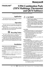 Honeywell TRADELINE T874 Installation, Instruction And  Service Manual