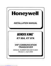 Honeywell BENDIX/KING KY 97A Installation Manual