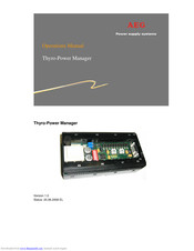AEG Thyro-Power Manager Operation Manual