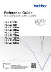 Brother Hl L2335d Manuals Manualslib