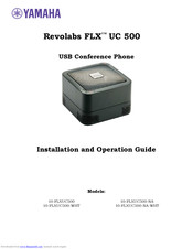 Yamaha 10-FLXUC500-WHT Installation And Operation Manual