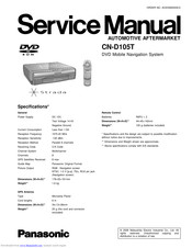 Panasonic CN-D105T Service Manual