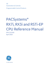 GE PACSystems* RX3i Reference Manual