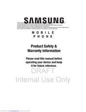Samsung Convoy 4 User Manual