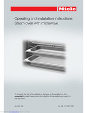 Miele DGM 6800 Operating And Installation Instructions