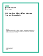 HP StoreEver MSL3040 User's And Service Manual