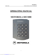 Motorola SDC1000 Operating Manual