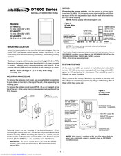 Honeywell IntelliSense DT-660STC Installation Instructions And Owner's Manual