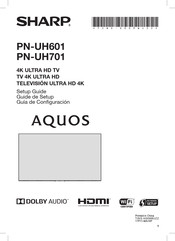 Sharp AQUOS PN-UH701 Setup Manual