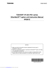 Toshiba TOSVERT IPE001Z Instruction Manual
