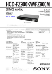 Sony HCD-FZ900KW Service Manual