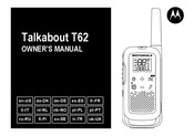 Motorola Talkabout T62 Owner's Manual
