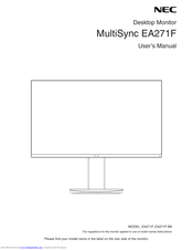 NEC MultiSync EA271F User Manual