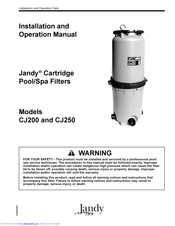 jandy CJ200 Installation And Operation Manual