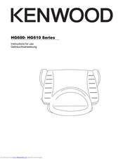 Kenwood HG600 Series Instructions For Use Manual