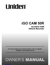 Uniden iGO CAM 50R Owner's Manual