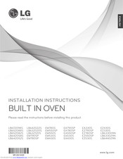 lg LB642052S Installation Instructions Manual