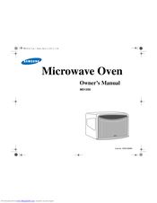 Samsung MD1200 Owner's Manual