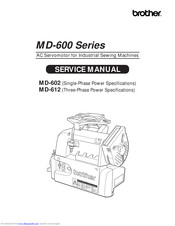 Brother MD-612 Service Manual